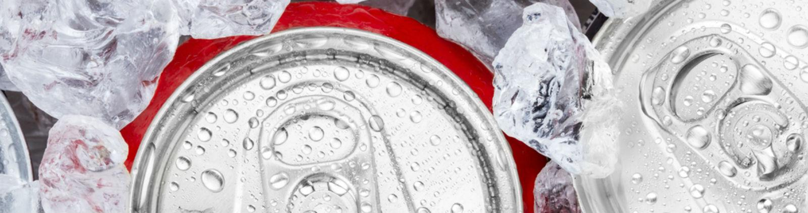 coca cola can surrounded by ice