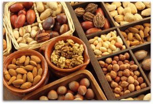 a wide selection of nuts